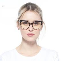 Reading Glasses Cat Eye Women Semi-Rimless Elegant Spring Spectacles Reader - $20.67