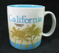 Starbucks California Coffee Mug Blue 16oz Cup 2009 Icon Global Collector Series - $9.40