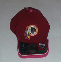 NWT New Washington Redskins New Era 39Thirty Breast Cancer Size M/L Flex... - $15.11