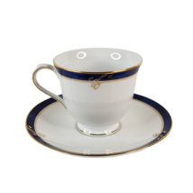 Vintage Nikko Sapphire Fine China Patra Tea Cup and Saucer Made in Japan - $14.99