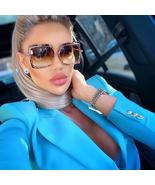 oversized leopard print cat eye sunglasses for women 2020 luxury brand a... - $70.40+