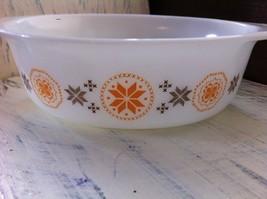 Vintage Pyrex Town & Country Brown/Orange Casserole Dish No. 043 1 1/2 qt.~ USA image 3