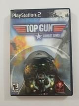 Top Gun Combat Zones PS2 Game 2001 Titus Playstation 2 - $4.99