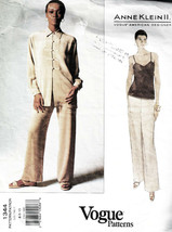 1994 Misses' Jacket, Top & Pants ANN KLEIN II Vogue Pattern #1344 - Size... - $15.00