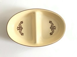 Vintage Pfaltzgraff Village 2 Part Divided Stoneware Serving Dish Bowl USA - $26.72