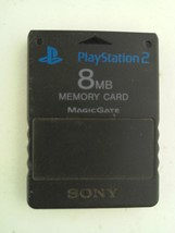 Sony SCPH-10020 PS2 PlayStation 2 Memory Card 8MB Black - $9.68 CAD