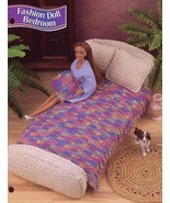 Fashion Doll Bedroom Rug Pillow fits Barbie Annie's Crochet Pattern Leaflet - $2.67