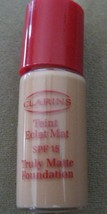 Clarins Truly Matte Foundation # 05 Shell SPF15 Shine Free 10ml /.35oz Free Ship - $14.83