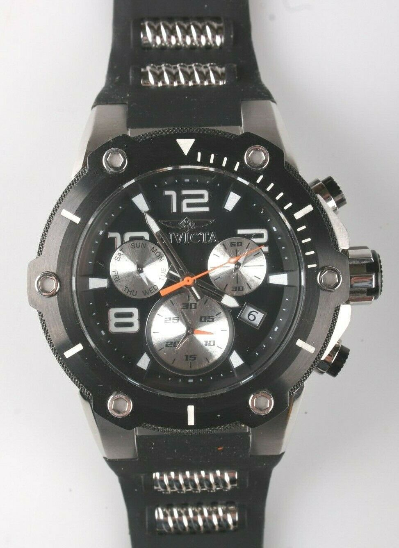 Invicta Men's Speedway 22235 Black & Stainless Steel Chronograph Watch NWOT