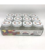 Kerr Fruit Decorated Lids Jam and Jelly 8 oz Jars Case of 12 NOS Embosse... - $21.95