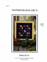 Watercolour ABC's by Sekas Cross Stitch Pattern Leaflet - $3.57