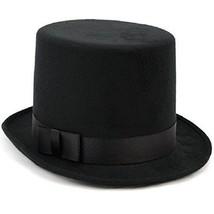 Deluxe Victorian Dickens Black Felt High Crown Costume Top Hat - €7,48 EUR
