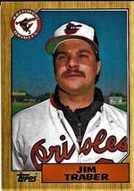 1987 Topps Baseball Card, #484, Jim Traber, Baltimore Orioles - $0.99