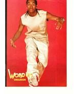 B2K teen magazine pinup clipping Omarion Word Up kicking - $5.00