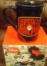 Wreck It Ralph Giant MUG doublesided print DISNEY RARE Genuine Black col... - $44.67