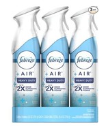 Febreze Air Freshener Heavy Duty Spray, Odor Eliminator, Crisp Clean, 8.... - $19.32