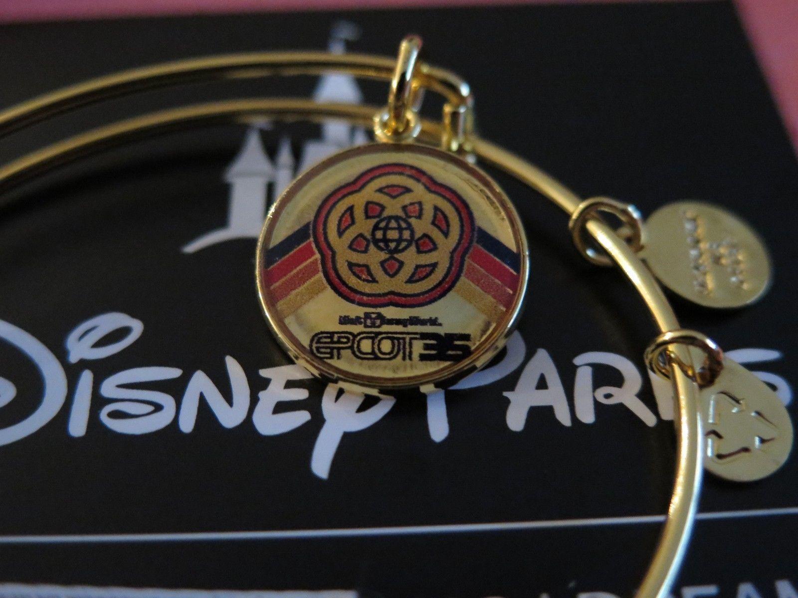 New Disney Alex and Ani Epcot Center 35th Anniversary Bracelet Gold