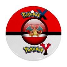 Anime Pokemon X & Y Charizard Dragon Pokeball Round Procelain Ornament C... - $3.95
