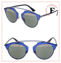 CHRISTIAN DIOR SO REAL Navy Blue Rose Mirrored Metal Sunglasses DIORSOREAL - $356.40