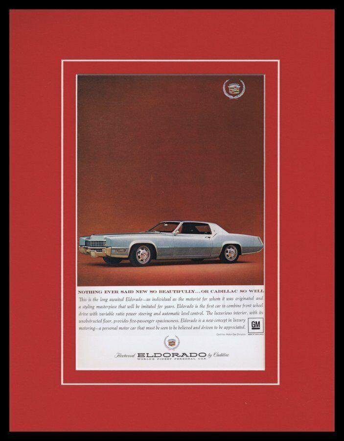 1967 Cadillac Eldorado Framed 11x14 ORIGINAL Vintage Advertisement - $44.54