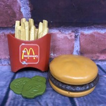 VTG 1988 Fisher Price Fun With Food McDonald's Big Mac Complete Play Set... - $24.99