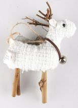 Wondershop 4 count Birchwood Bay Fabric Reindeer Ornament Set NEW w Tags image 5