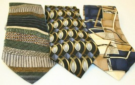 3 Tie Lot Tequila Cocktail Cabralli Collection Pierre Cardin Brown Blue crafts - $19.95