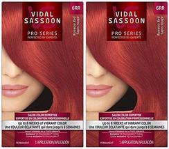 Vidal Sassoon London Luxe Hair Color, Runway Red (6RR), 2 pack - $42.41
