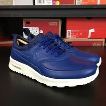 Nike Air Max Thea Pinnacle Leather Blue Women's Size 5.5 Luxury Running  - $89.05