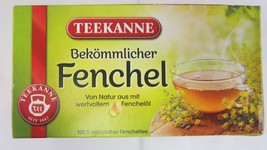 Teekanne Whipped Fennel 100% Natural - 20 tea bags- Made in Germany - $5.93