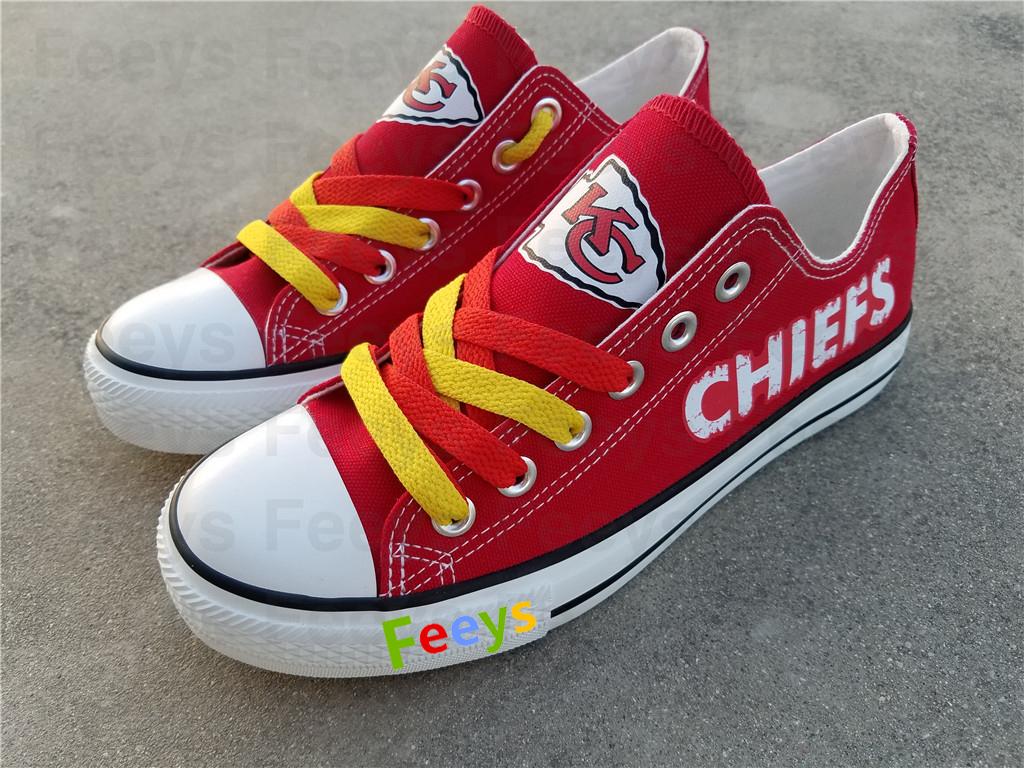 2ba0f9f888eb kc chiefs shoe women converse style chiefs sneakers kansas city fans gift  canvas