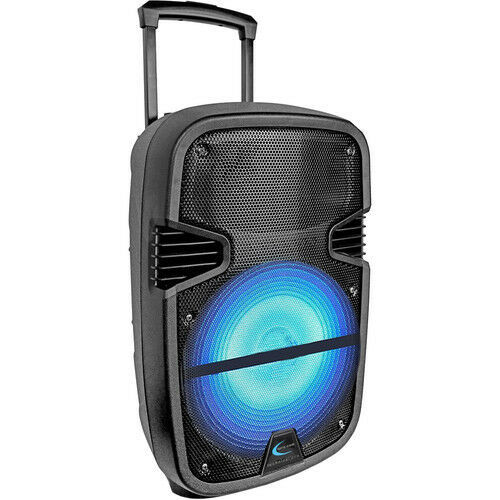 """TECHNICAL PRO 12"""" ACTIVE SPEAKER PB1400LED  PORTABLE BLUETOOTH with Microphone"""