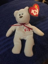 "Ty TEENIE 3"" Beanie  Babies 1993 Maple Canada Bear Tag Creased - $0.94"