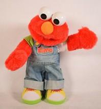 Sesame Street Lets Pretend Elmo Plush Talking Toy Doll Mattel Fisher Pri... - $17.82