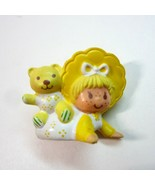 Vintage Strawberry Shortcake Butter Cookie with Jelly Bear Miniature PVC... - $8.99