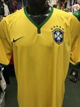 BRAZIL HOME SOCCER JERSEY ~SIZE XL ~ $90 RETAIL! Nike Original - $89.10