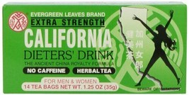 Evergreen Leaves Brand Extra Strength California Dieters' Drink 1 box  - $8.95+