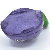 Hard Carved Kisii Soapstone Sky Purple & Green Turtle Figurine Made in Kenya image 5