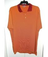 Peter Millar Men's XXL Summer Comfort Striped Orange Red SS Golf Polo Shirt - $34.99