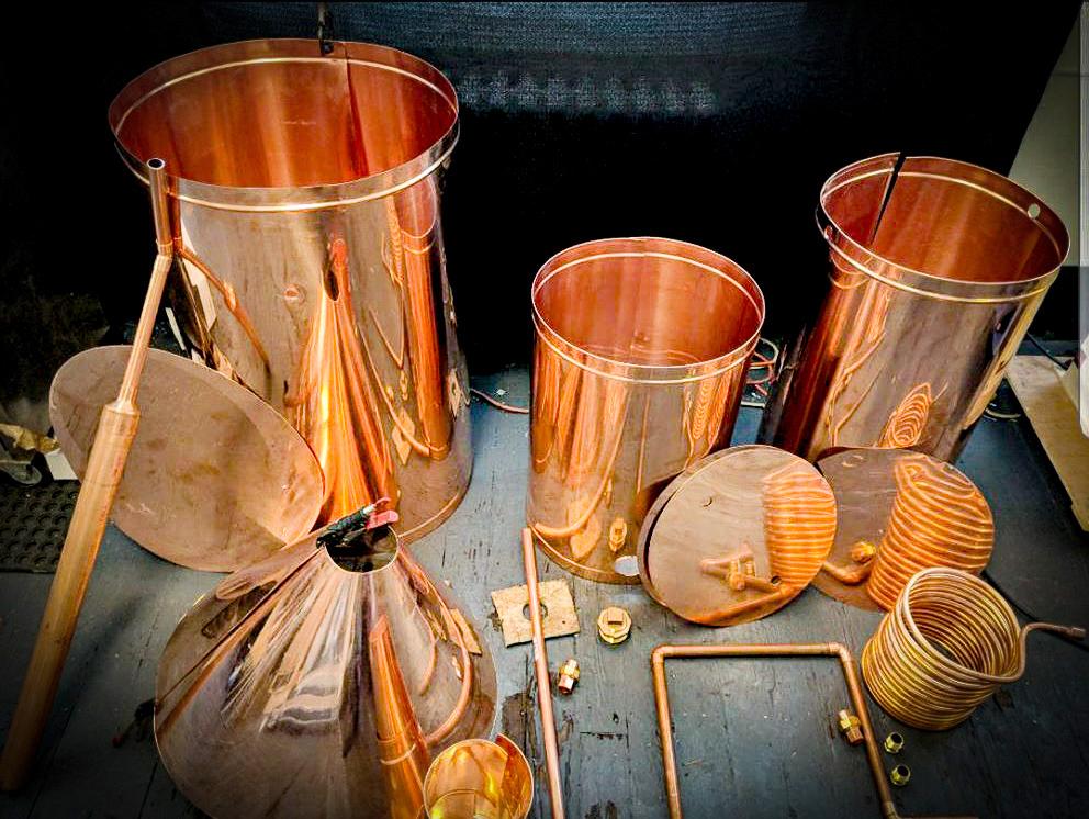 100 Gallon Moonshine Still Kit - YOU SOLDER kit