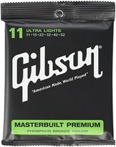 Gibson Masterbuilt Premium Phosphor Bronze Acoustic Guitar Strings, Ultr... - $16.49