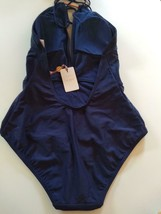 Ted Baker London Navy Halter One Piece Swim Suit Size 3 / Medium US image 2
