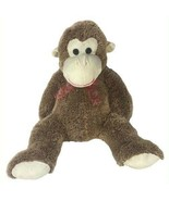 "Monkey 34"" tall Stuffed Monkey Plushie Large Brown Homerbest - $19.80"