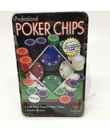 Cardinal Professional Poker Chips Set 100 Pieces with Dealer Button NEW - $11.29