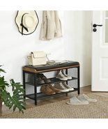 Industrial Hallway Storage Chests, Shoe Bench, Padded Storage Shoe Rack, Metal F - $150.00