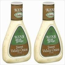 Ken's Steak House Sweet Vidalia Onion Dressing 16oz Bottle Pack of 2