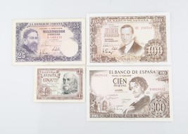 1953-1965 Spain Pesetas Lot of 4 XF-UNC Banco de Espana Extra Fine Uncir... - $59.40