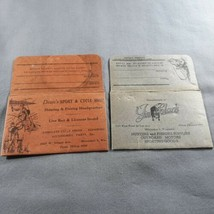 Vintage 1940s Paper Fishing & Hunting License Holders Milwaukee Wisconsi... - $19.75