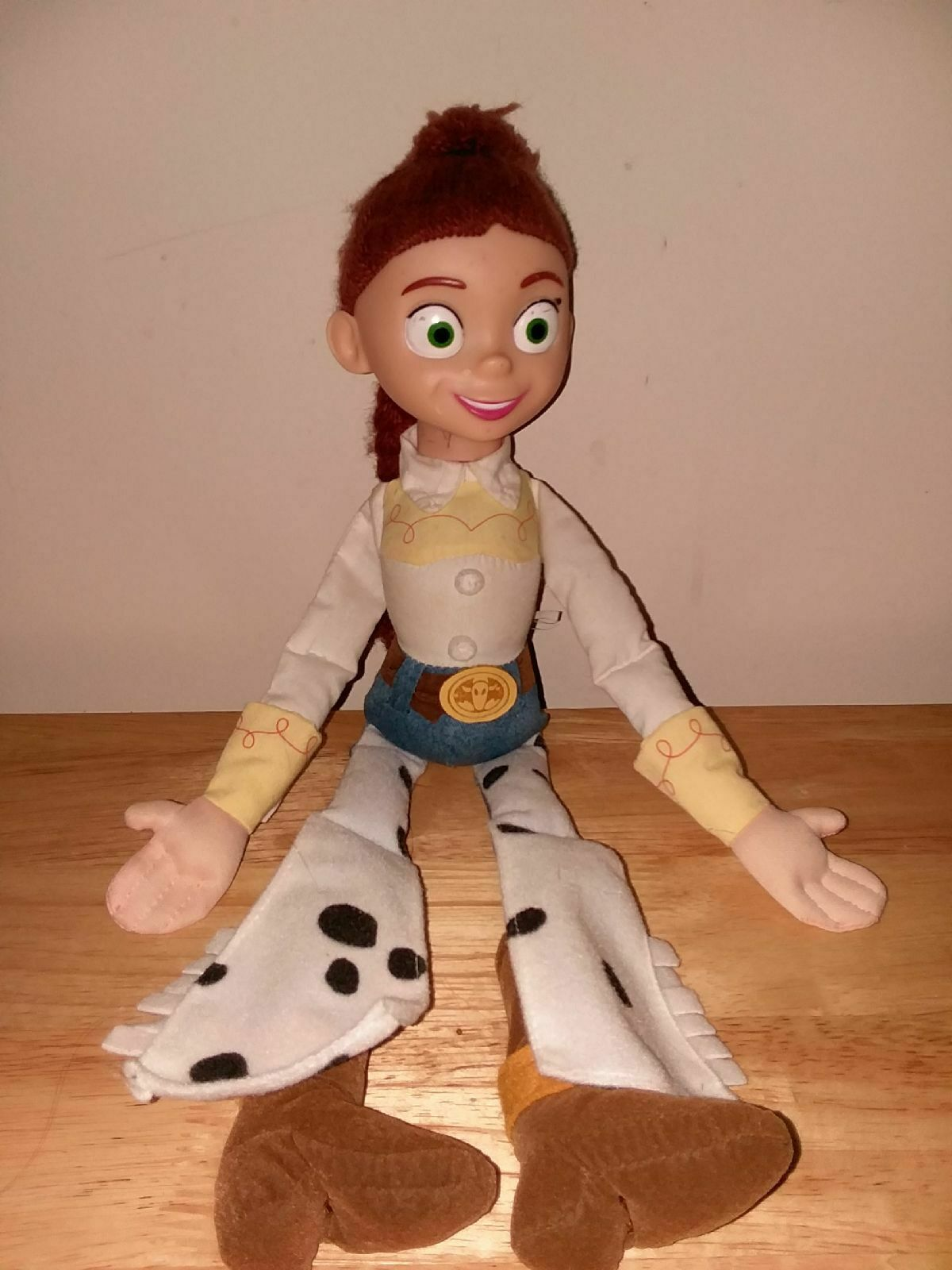 "16"" Jessie Doll DISNEY Applause  Toy Story II  RARE pull string cow girl"