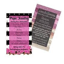Jewelry Cleaning and Care Instruction Cards | Pack of 50 | MLM | Business Cards  - $11.92
